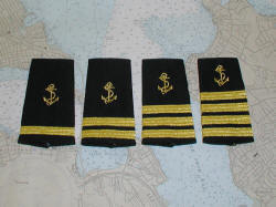 Captain and crew epaulets.