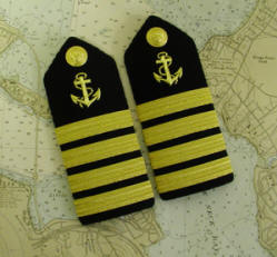 Epaulet. Hardboard with anchor.