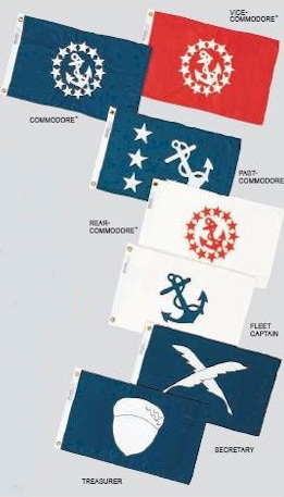 Yacht Club Officer Flags.